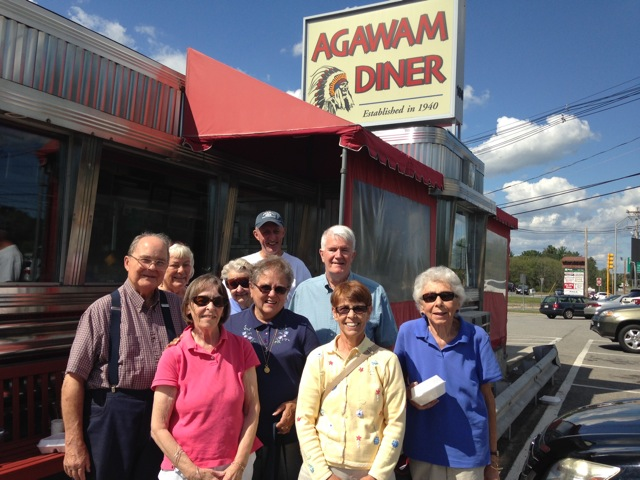 fans go to agawam diner for actual food mystery book fan